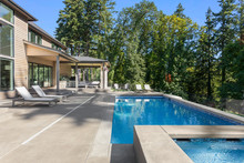 Luxury Home Exterior And Pool ...