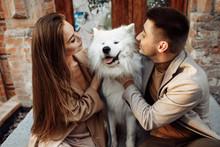 Beautiful Couple With White Sa...