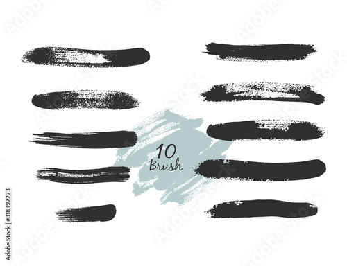 Fototapety, obrazy: Collection of vector art brushes. Hand drawn brush style modern calligraphy. Vector illustration of handwritten lettering.