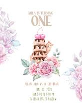 Birthday Anniversary Invitatio...