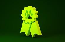 Yellow Pet Award Symbol Icon I...