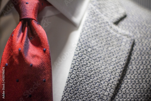 Midsection Of Man Wearing Suit And Necktie Poster Mural XXL