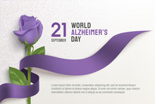 Alzheimer's Day Poster With Ri...
