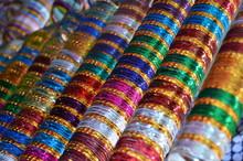 Full Frame Shot Of Multi Colored Bangles