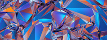 3d Render, Abstract Blue Red C...