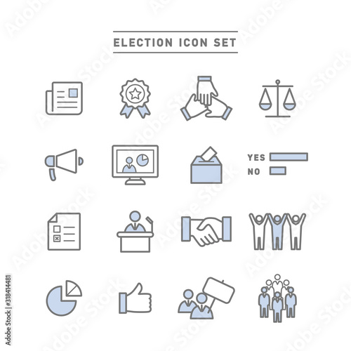 Obraz na plátně ELECTION ICON SET