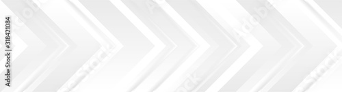 Fotografía Technology banner design with white and grey arrows