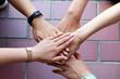 一致団結する手