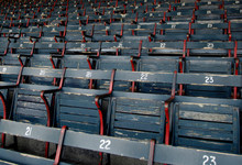 Empty Stadium Seats In Ballpark