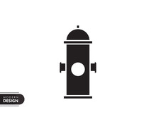 Hydrant Black Solid Icon With ...