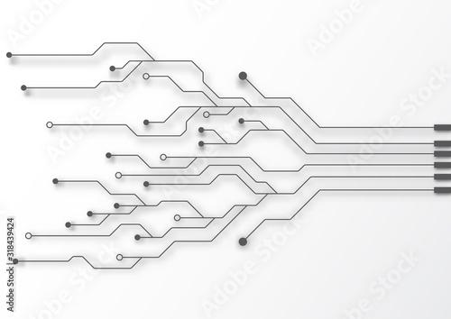 Fotografía Circuit board technology background