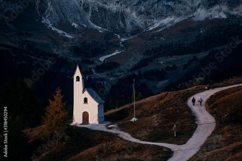 Dolomites church Fototapete