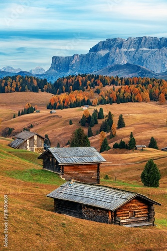 Dolomites village Tablou Canvas