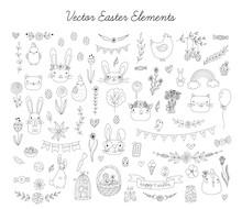 Vector Easter Element Set In L...