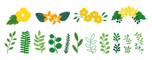Greenery Icons For Spring