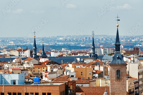 Cuadros en Lienzo Madrid rooftop view