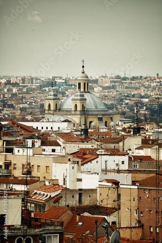 Fotomural Madrid rooftop view