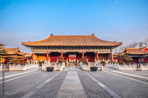 Halberd gate of Taimiao in Beijing, China Fototapet