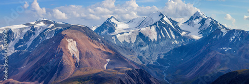 Mountain landscape, panoramic view Wallpaper Mural