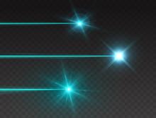 Laser Beam Set Isolated On Tra...