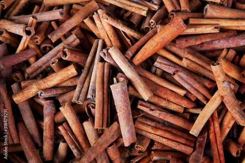 Valokuvatapetti Full Frame Shot Of Cinnamons For Sale In Market