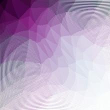 Purple White Halftone Dots Pat...