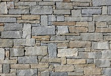Stone Wall Made From Irregular...