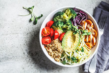 Buddha Bowl Salad With Quinoa,...