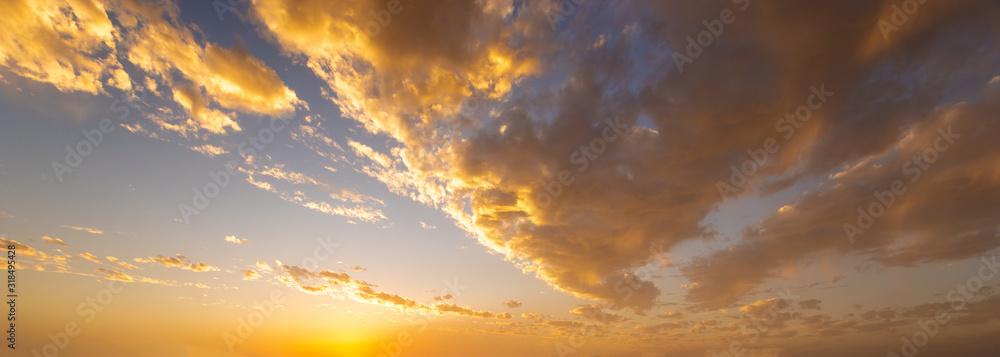 Fototapeta beautiful colorful clouds in the sky at sunrise