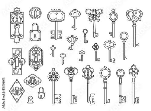 Fotografía Vintage locks and keys