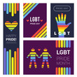 Lgbt banners. Pride rainbow colored backgrounds for supportive lgbt celebrating vector collection. Illustration pride lgbt, rainbow colorful posters
