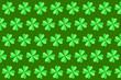 Leinwandbild Motiv Horizontal holiday papercraft green pattern from leaves.