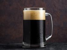 A Mug Of Homemade Dark Stout Beer