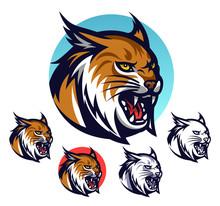 Angry Lynx Head Emblem