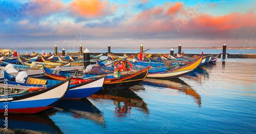 Portugal, Boote Canvas Print