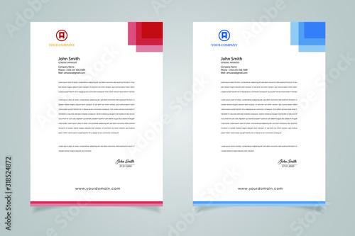 Fototapeta Abstract Letterhead Design Modern Business Letterhead Design Template obraz