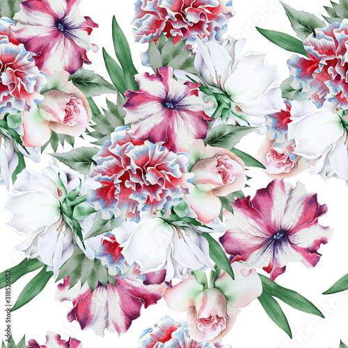 jasny-wzor-z-kwiatami-roza-piwonia-petunia-akwarela-ilustracja-wyciagnac-reke