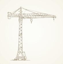 Construction Crane. Vector Dr...