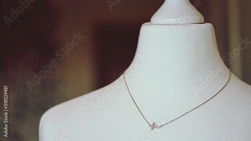 Slika na platnu Close-Up Of Necklace On Mannequin