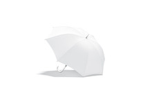 Blank White Open Umbrella Mock...