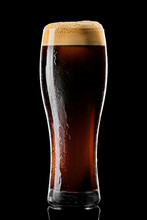 Stange Beer Glass With Black S...