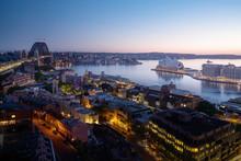 Sunrise, Aerial View Of Sydney...
