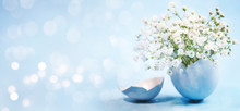 Spring Easter Background. Wate...