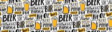 Beer Text Pattern. Word Beer I...