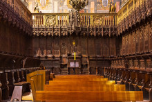 View Of The 15th Century Choir Of The Cathedral Of Siguenza, Aragon, Spain