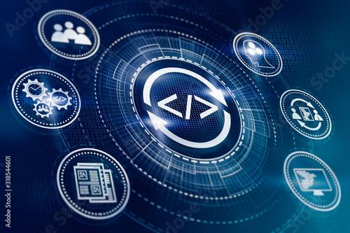Fototapeta Agile development methodology for business