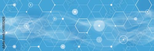 Fotografía Abstract Blue Background, Vector graphics