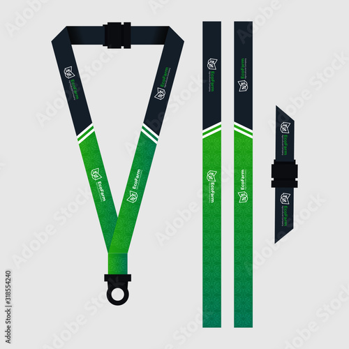 Green lanyard template for agriculture company Canvas Print