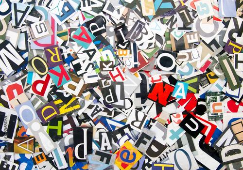 Obraz random letters  bright color - fototapety do salonu