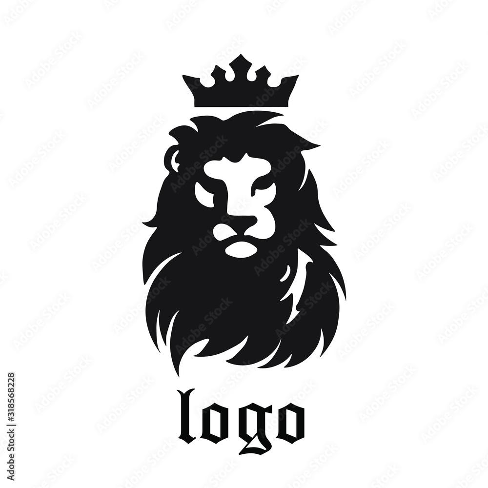 Fototapeta vector illustration of lion